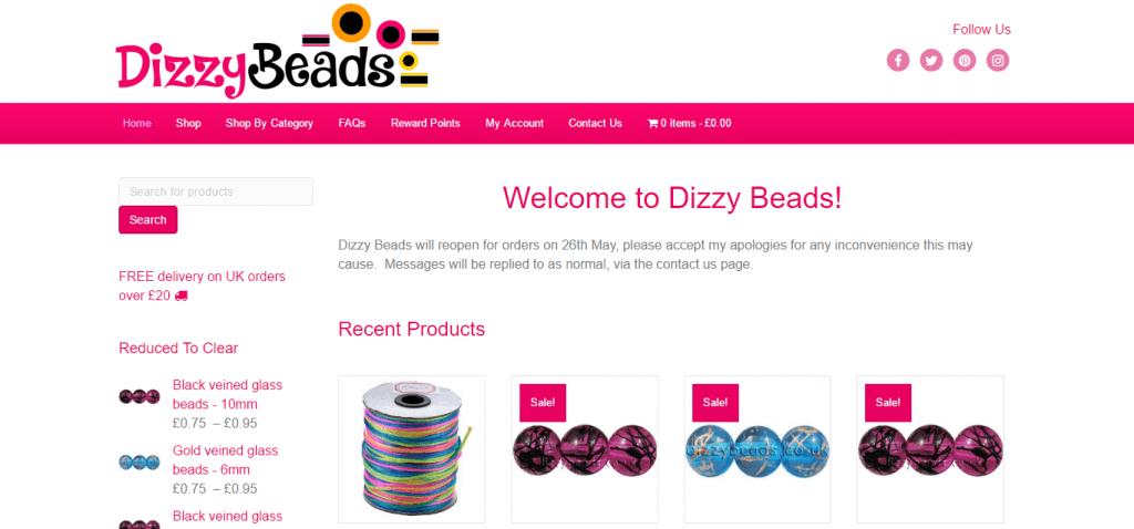 dizzy beads