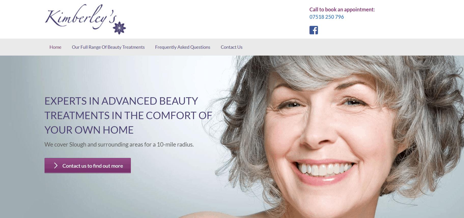 Beauty treatments by Kimberley